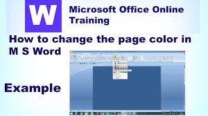 how to change the page color in ms word microsoft office online