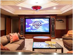 Home Theater Sleeper Sofa Living Room Cool Wooden Side Board With Drum Table Lamp Plus