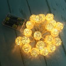 rattan ball fairy lights 2m 20led rattan ball led string lighting modern outdoor lights