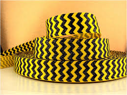black and yellow ribbon 1 yard 7 8 inch black chevron with silver glitter on yellow ribbon