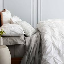 Organic Cotton Duvet Cover Organic Cotton Pintuck Duvet Cover Pillowcases West Elm Uk
