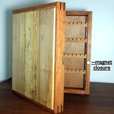 jewelry box necklace holder images Armoires wall hung jewelry armoire wall hanging wood jewelry jpg