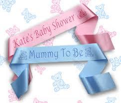 personalised baby shower sash sashes banners big sister nanna