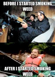 Weed Smoking Meme - ice cube before and after he started smoking weed 420 meme