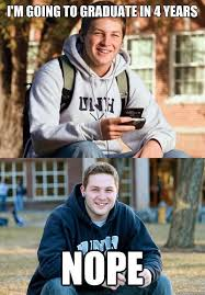 guy in college freshman meme now stars in a new college senior