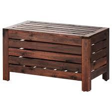 Ikea Storage Ottoman Bench äpplarö Storage Bench Outdoor Brown Stained Brown Storage