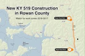 County Map Kentucky Work Begins On Ky 519 Project In Rowan County Wmky