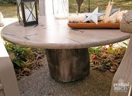 How To Make A Tree Stump End Table by How To Make A Faux Shipping Crate Table Prodigal Pieces