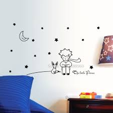 compare prices on dog sticker wall mural home decor online e589 wall stickers home decor diy poster mural decoration removable design dog fox little stars moon