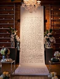 wedding vow backdrop modern wedding inspiration from carondelet house calligraphy