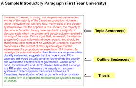 an example of a thesis paragraph