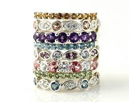 custom birthstone necklaces 14k aquamarine eternity band custom anniversary band stacking ring