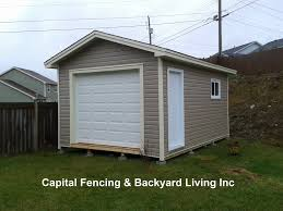 Overhead Doors For Sheds Shed S Capital Fencing And Backyard Living