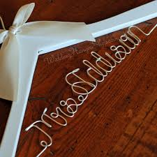 custom bridal hanger wedding hangers with your new last name