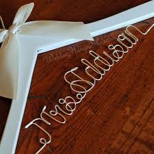 personalized wedding hangers custom bridal hanger wedding hangers with your new last name