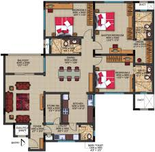 3 Bhk Apartment Floor Plan by Sobha Dew Flower By Sobha Limited In Jp Nagar Phase 1 Bangalore