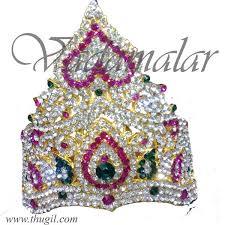 thugil store hindu deity crown mukut kreedam accessories