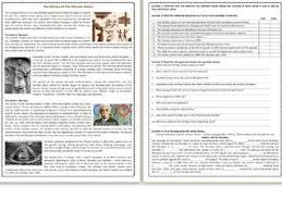 a brief history of reading comprehension worksheets texts