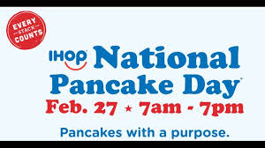 Get Free Pancakes At Participating Free Pancakes At Ihop Today For National Pancake Day