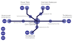 Map Of Oxford England by 400 Park U0026ride Oxford Bus Company
