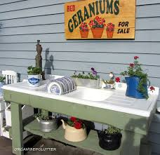 Gardening Table Potting Bench And Table Ideas House Of Hawthornes