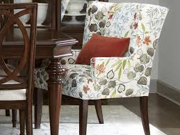Stuffed Chairs Living Room by Upholstered Dining Chair With Arms Intended For Dining Arm Chairs