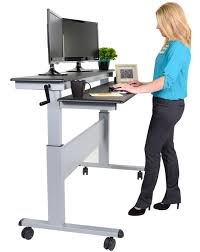 Adjustable Height Desk Crank by Desk Sit To Stand Desk Converter In Awesome 60quot Crank