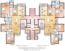 beautiful floor plans for a four bedroom house and gallery images