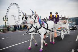 forget the tube this week you can take a unicorn drawn carriage