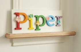 Kids Room Letters by Rainbow Nameboard Hand Painted And Decorated Wooden Letters