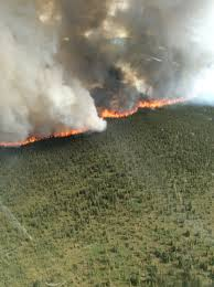 Wildfire Yukon by State Forestry Monitoring Wildfire Off Pogo Mine Road North Of