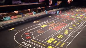 Craps Table Dice Rolling Across A Craps Table Inside Hard Rock Casino In