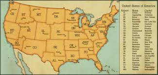Usa Map With Abbreviations by Name State Capitals Quiz
