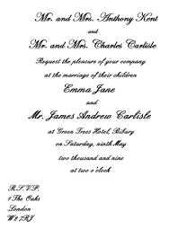 wedding invitations messages wedding invitations wording sles from and groom
