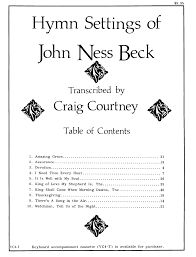thanksgiving devotion hymn settings of john ness beck vocal solo j w pepper sheet music