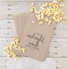 wedding treat bags treat bags wedding treat bags midnight snack popcorn bar