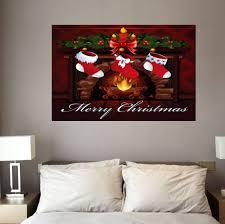 christmas socks and fireplace wall art stickers colorful w inch christmas socks and fireplace wall art stickers colorful w20 inch l27 5 inch