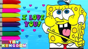 spongebob squarepants i love you face coloring book kids drawing