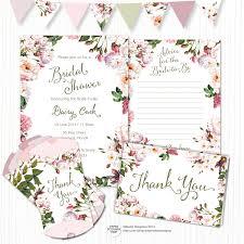 kitchen tea party ideas bridal shower invitation set vintage floral kitchen tea
