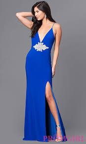royal blue v neck royal blue prom dress promgirl
