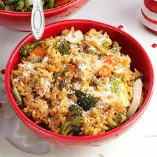 Roast Vegetable Recipe by Roasted Vegetable Risotto Recipe Taste Of Home