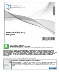 editable biography template pdf fill print u0026 download online
