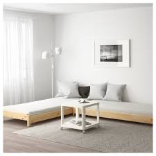 fold away bed ikea utåker stackable bed with 2 mattresses pine husvika ikea