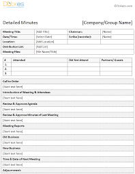 meeting minutes templates editable informal meeting minutes template