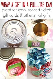 tickets gift card to wrap a small gift in a pull tab can happy hooligans