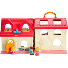 Fisher Price Doll House Furniture Fisher Price Little People Surprise U0026amp Sounds Home Walmart Com