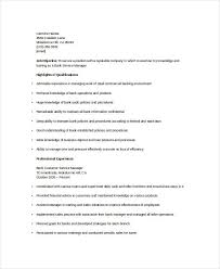 Bank Manager Resume Samples by Banking Resume Samples 45 Free Word Pdf Documents Download