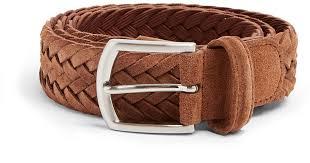 light brown suede belt lyst andersons woven suede belt in brown for men