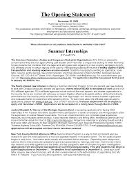 Resume Statements Examples by Resume Introductory Statement Examples Resume For Your Job