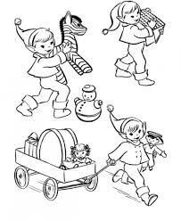christmas elf coloring pages christmas coloring pages of
